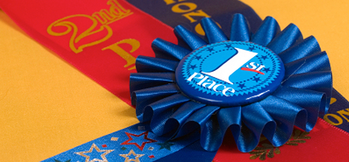 Blue first place ribbon