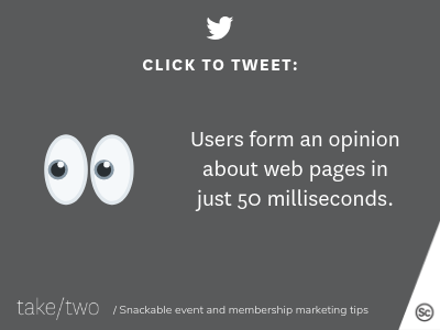 Event landing page opinion