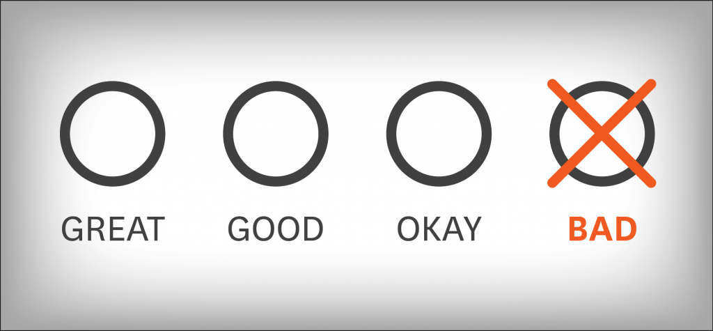 How to deal with negative feedback about the event
