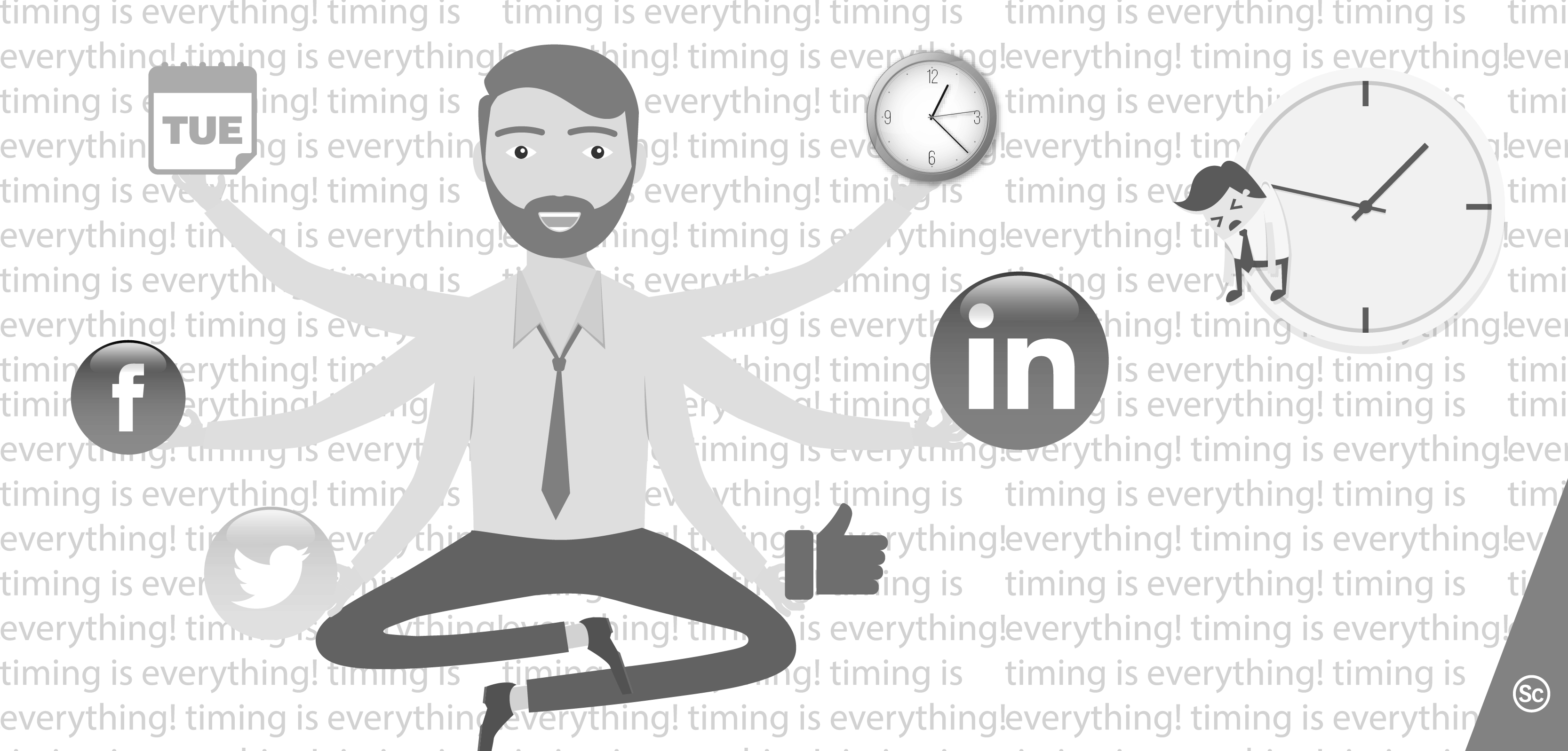 Optimize social media schedule